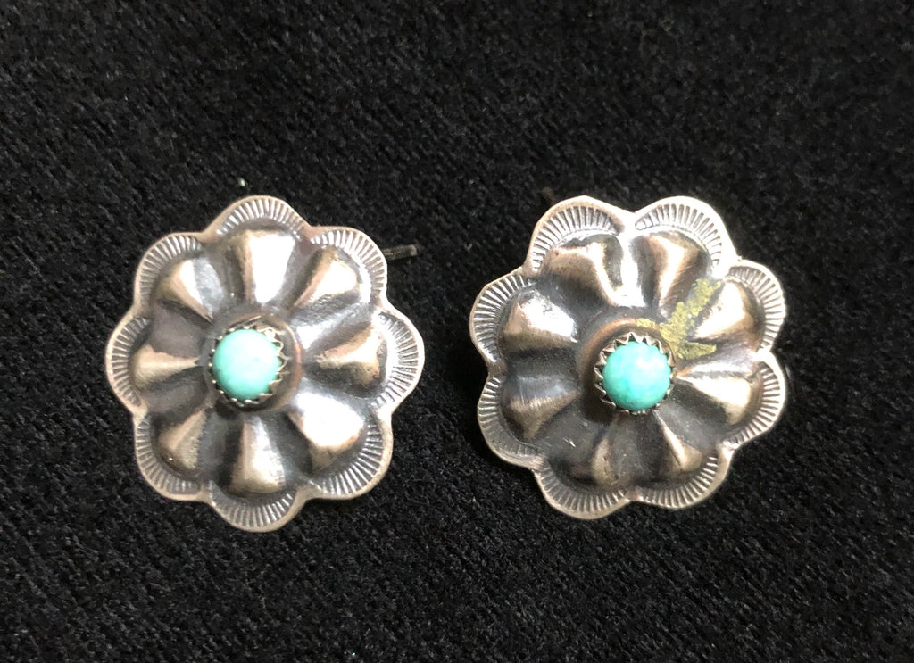 NAVAJO FLORAL EARRINGS