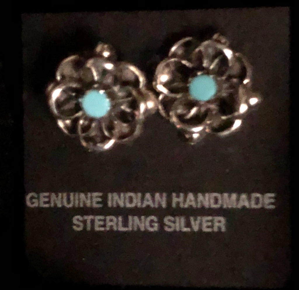 Flower Post Earring Sterling Silver