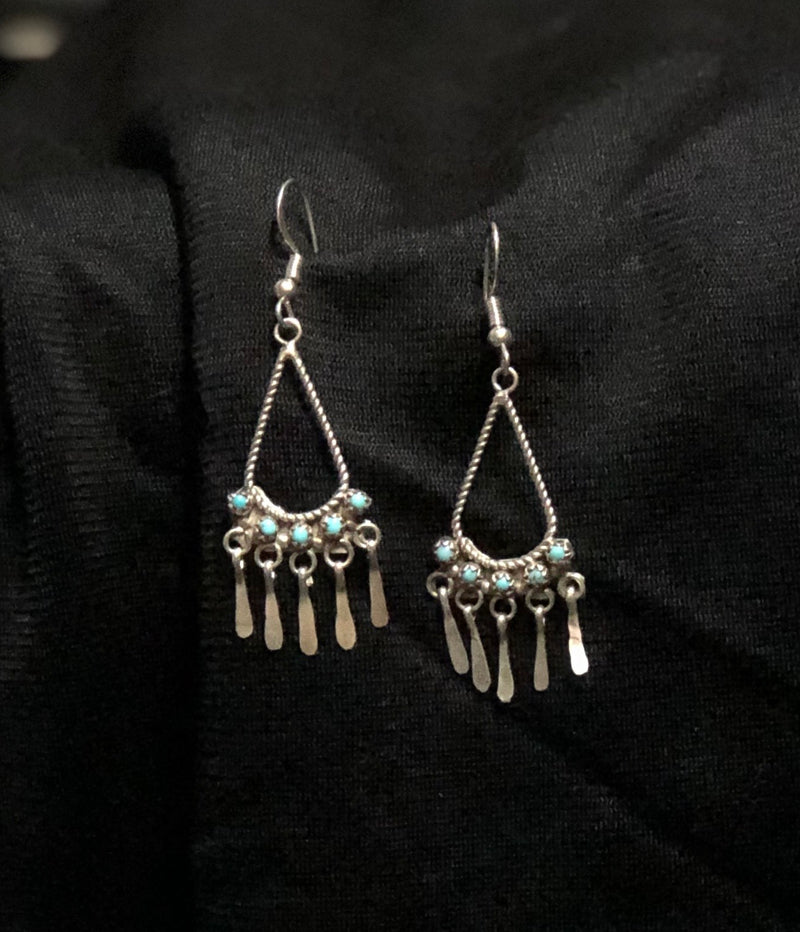 Zuni Chandelier TURQUOISE Earrings