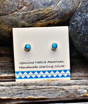2MM TINY TURQUOISE EARRINGS