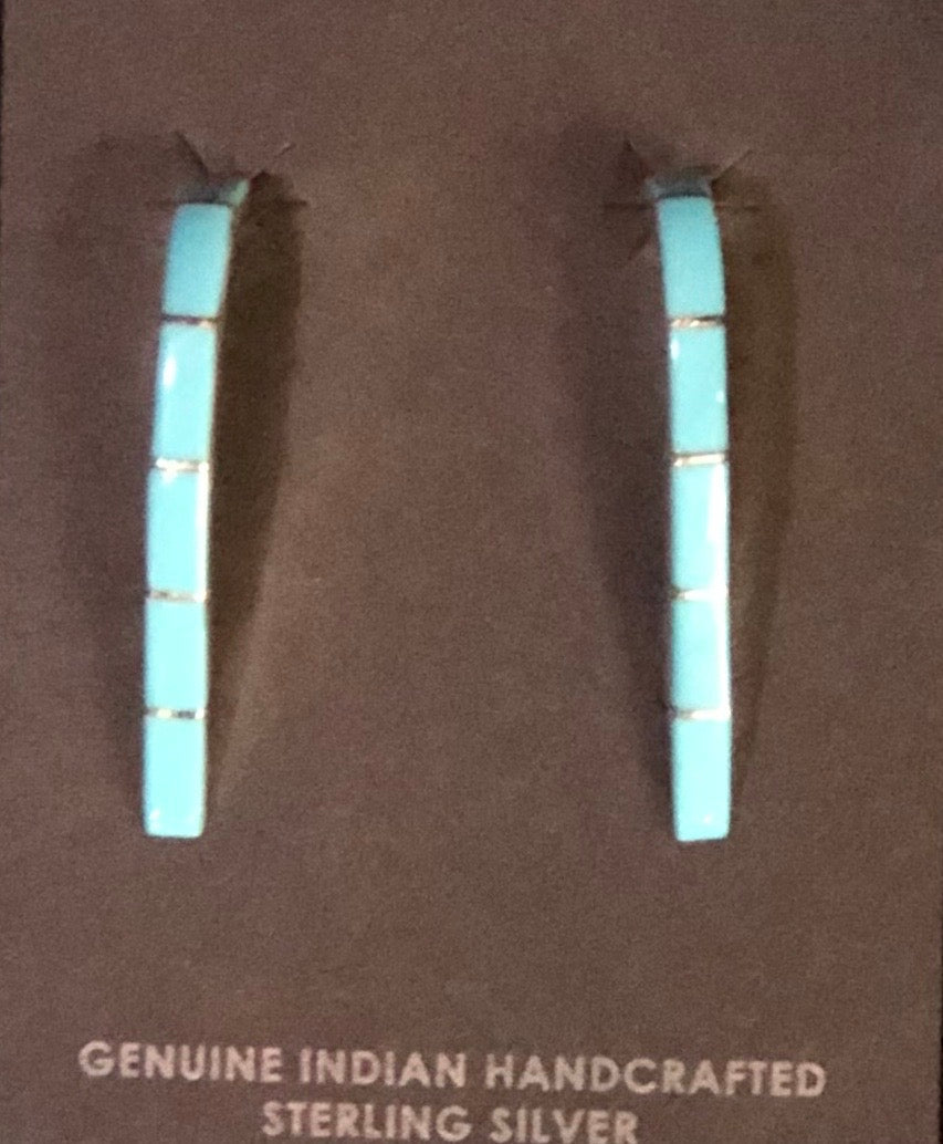 STERLING INLAY EARRINGS