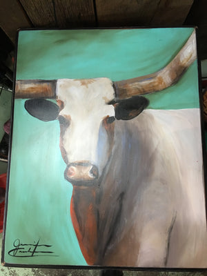 Longhorn Hand Painted Square Table