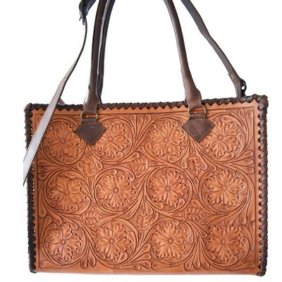 AMERICAN DARLING FLORAL LEATHER  BAG