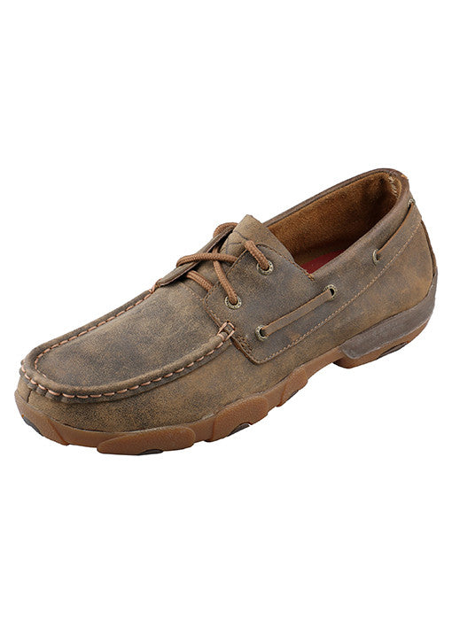 Twisted X Men's Brown Short Driving Moc