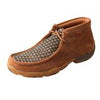 Twisted X Saddle and Navy Weave Driving Moc