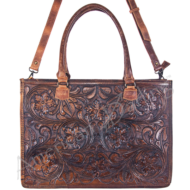 AMERICAN DARLING TOOLED LEATHER CARRY CONCEAL BAG