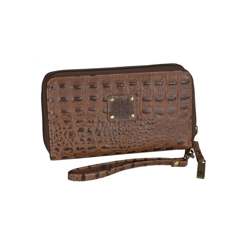 BROWN CROC KACY ORGANIZER