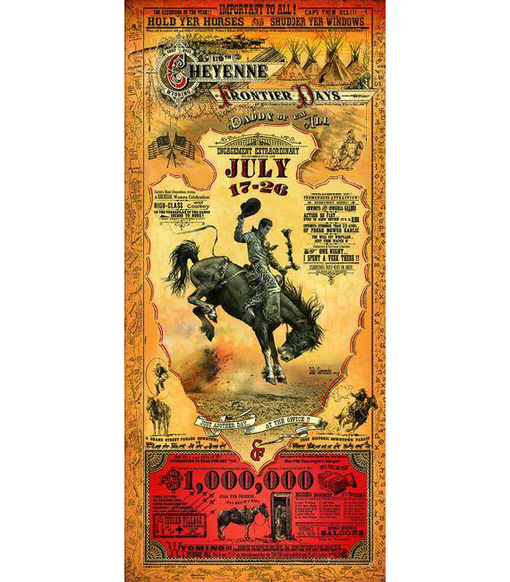 The New Cheyenne Frontier Days Poster  2015