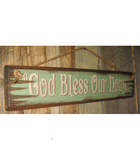 God Bless Our Home Wooden Sign