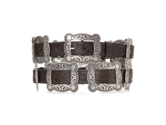 Brown Square Concho Belt