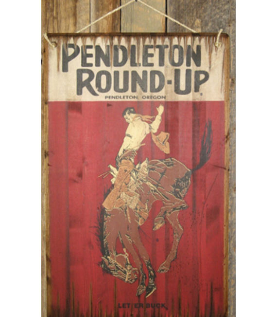 Pendelton Round-Up Sign