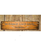 There's No Normal Life. It's Just Life. Antiqued Wooden Sign