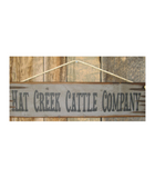 Hat Creek Wood Banner Sign