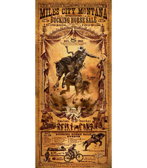 2014 Rodeo poster Miles City Bucking Horse Sale