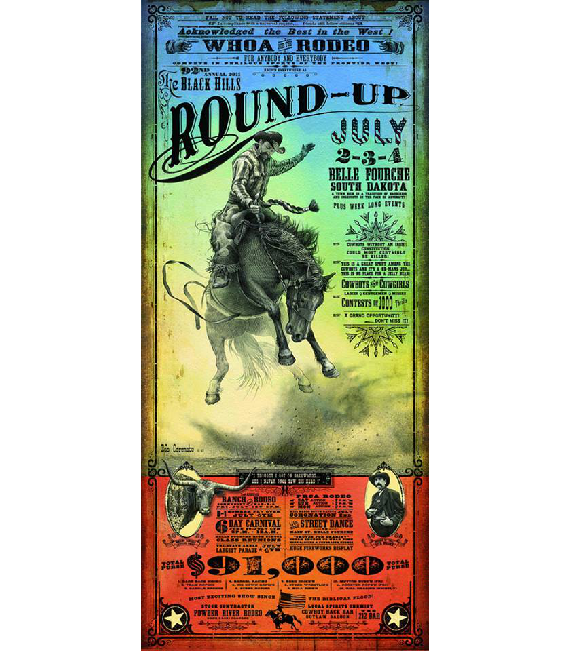 2011 Rodeo Poster Black Hills Round-Up