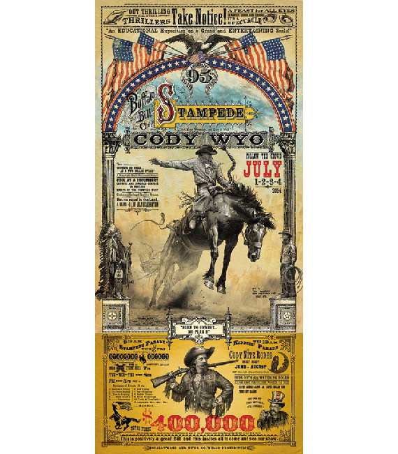 2014 Buffalo Bill Cody Stampede Rodeo Poster