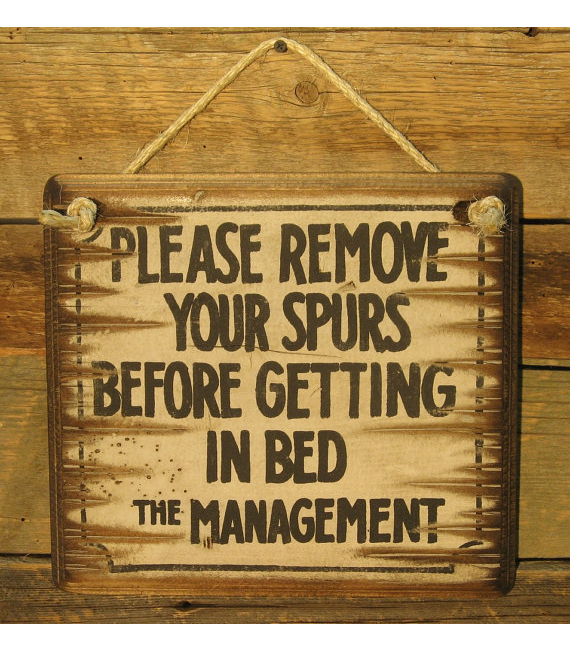 Please Remove Your Spurs, Western, Antiqued Sign