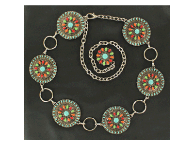 Ladies Concho Chain Belt