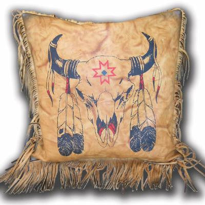 Kobler Leather Bullhead Pillow