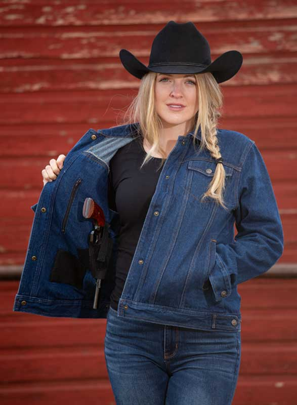 Women's Denim Concealed Carry Jacket