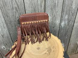 FRINGED PD RED/BROWN WITH CAMEL