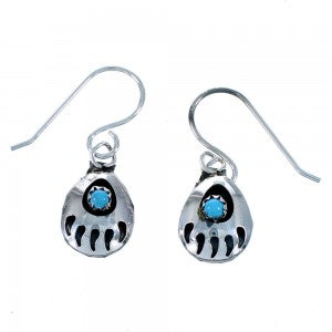 Turquoise Zuni Genuine Sterling Silver Post Stud Earrings