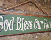 God Bless Our Farm, Western Wooden Sign