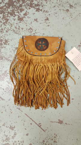 Small Leather Fringe Purse