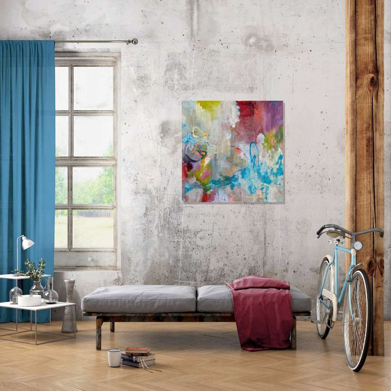 Marnie Joy Erickson Adventure Calls Abstract Bicycle Painting Loft