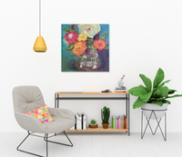 Marnie Joy Erickson Relentlessly Kind Modern Floral Painting Reading Room