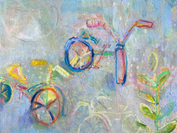 Marnie Joy Erickson Still Joy At Every Turn Whimsical Bike Painting