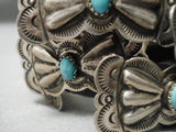 Magnificent Hand Tooled Rare Vintage Native American Navajo Hat Butterfly Concho Belt Old
