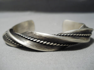 Museum Twisted Sterling Silver Navajo Native American Bracelet