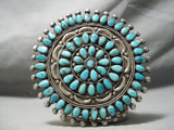 Best Museum Vintage Native American Navajo Victor Moses Begay Turquoise Sterling Silver Pin Old