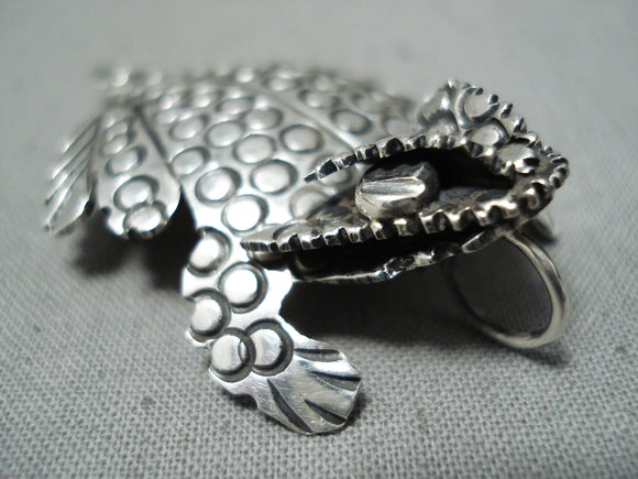 Whimsical Benny Benally Native American Navajo Sterling Silver Toad Pin/ Pendant