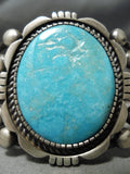 Important Verdy Jake Native American Navajo Turquoise Sterling Silver Bracelet