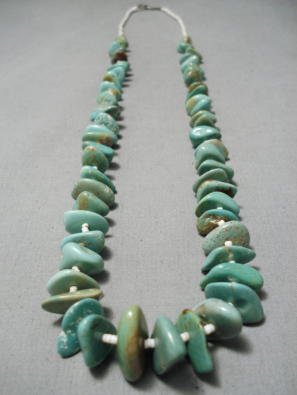 Wonderful Vintage Santo Domingo Royston Turquoise Native American Necklace Old