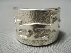 Authentic Ben Nighthorse Campbell Sterling Silver Native American Ring