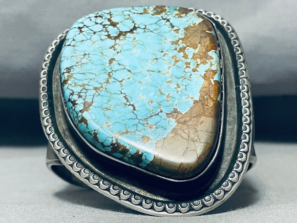 Native American One Of The Biggest Best Ever 160 Gram #8 Turquoise Sterling Silver Bracelet