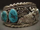 100 Gram Old Navajo leaves Galore Native American Jewelry Silver Bracelet-Nativo Arts