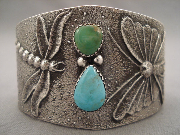 100 Grams Navajo Native American Jewelry jewelry Dragonfly Love Green And Blue Turquoise Bracelet