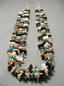 Magnificent Vintage Navajo Turquoise Native American Necklace Old