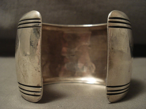 113 Grams Extra Wide Very Rare Vintage Navajo Native American Jewelry jewelry Thomas Singer Bracelet-Nativo Arts