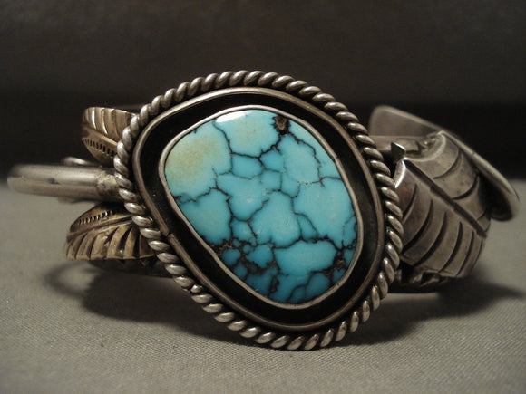 118 Gram Hvy Museum Vintage High Grade Lone Mountain Turquoise Native American Jewelry Silver Bracelet-Nativo Arts