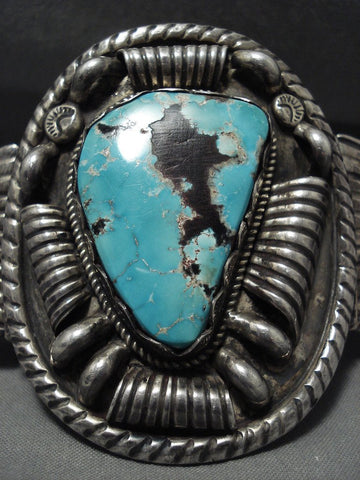 157 Gram Opulent And Crazy Vintage Navajo Turquoise Native American Jewelry Silver Bracelet-Nativo Arts