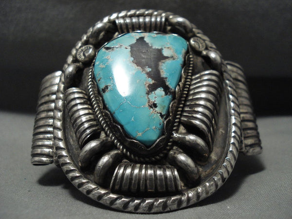 157 Gram Opulent And Crazy Vintage Navajo Turquoise Native American Jewelry Silver Bracelet