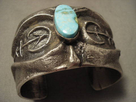 172 Grams Yes Solid Sterling Vintage Navajo Number 8 Turquoise Native American Jewelry Silver Bracelet-Nativo Arts