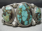 One Of The Best Vintage Native American Navajo Damale Turquoise Sterling Silver Bracelet Old