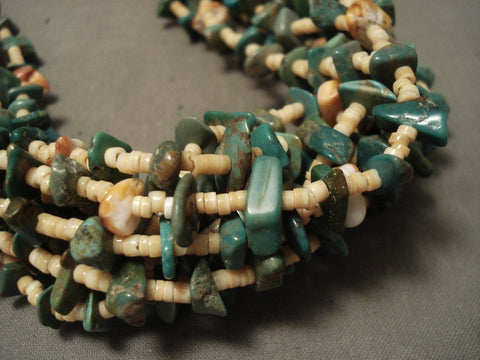 178 Gram Natural Green Turquoise Heishi Navajo Native American Jewelry jewelry Necklace-Nativo Arts