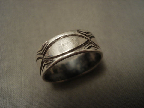 1910's Vintage Navajo Ingot/coin Native American Jewelry Silver Ring-Nativo Arts
